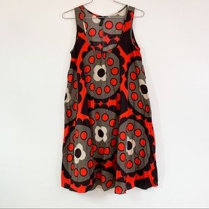 Topshop Sleeveless Dress Size 6 Red Brown